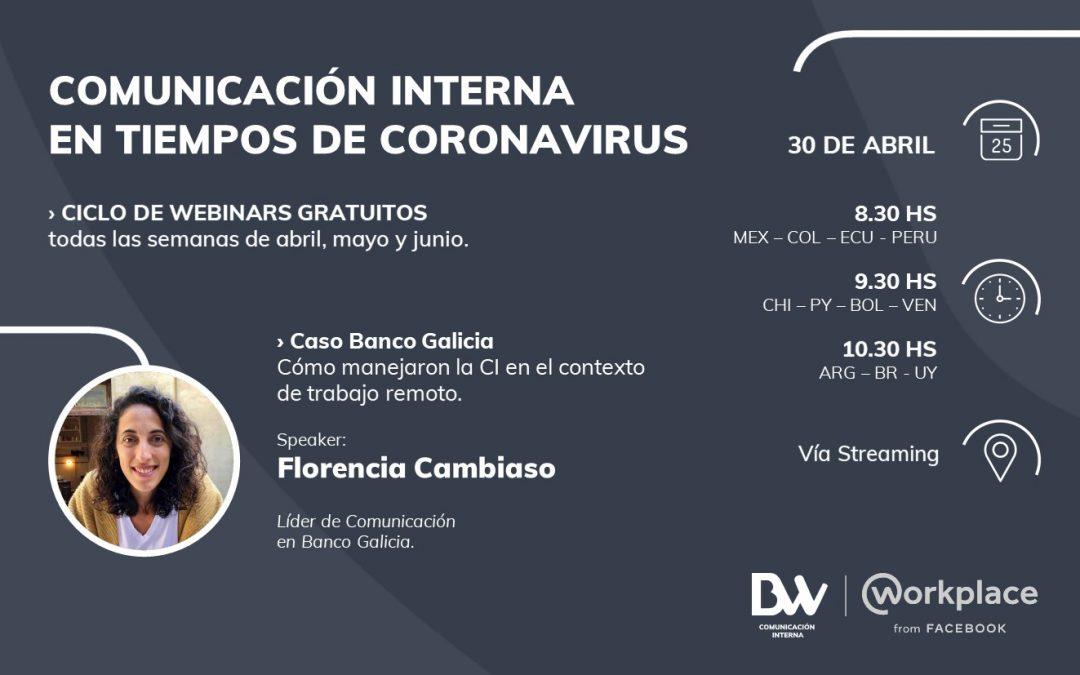 Ciclo de Webinars gratuitos de BW: Comunicación Interna en tiempo de coronavirus